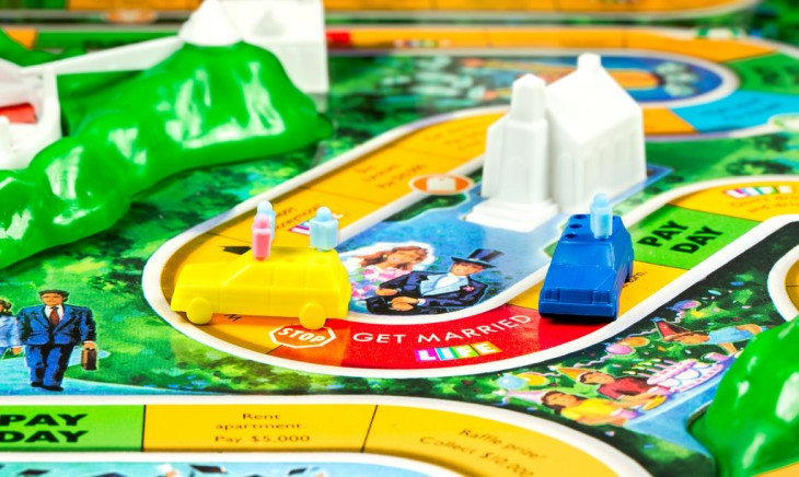 "Picture of the board game, ""Life"" by Milton Bradley"