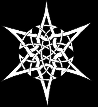 A six-pointed star woven through a circle