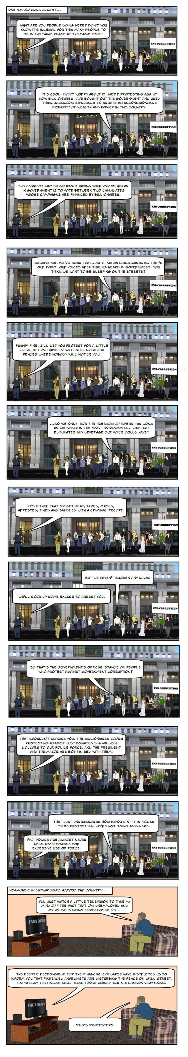 (Comic) How Civilians Protesting Works