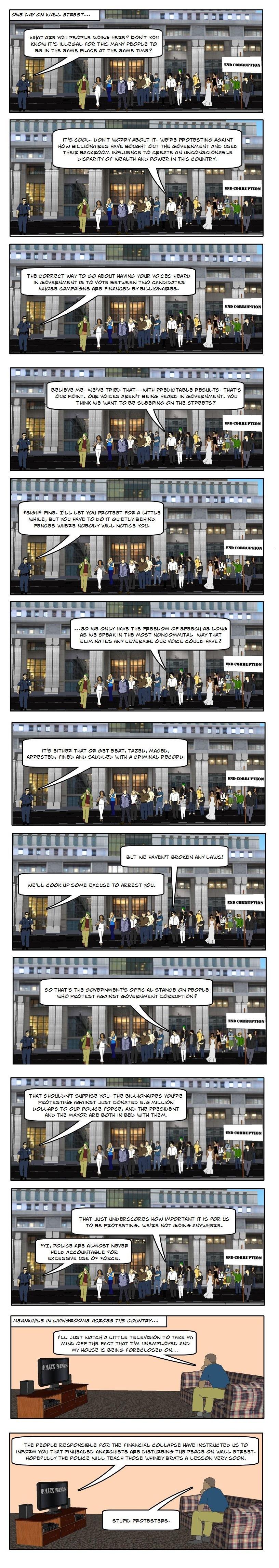 (Comic) How Civilians Protesting Works