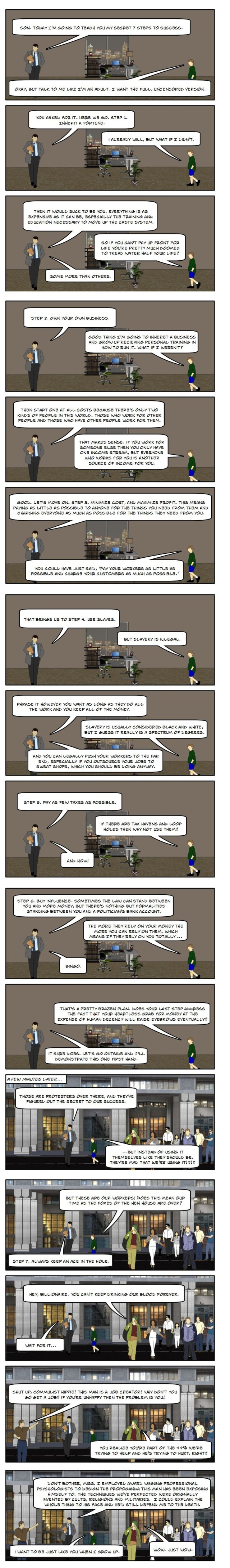 (Comic) How Becoming A Billionaire Works