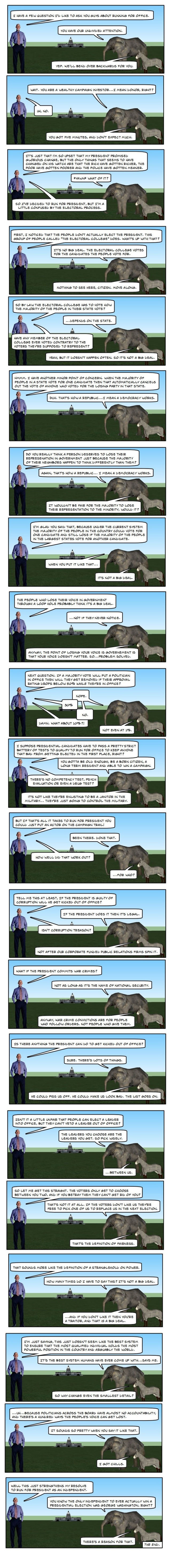 (Comic) How Presidential Elections Works