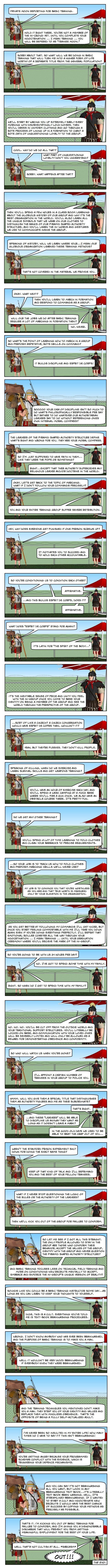 (Comic) How Basic Training Works
