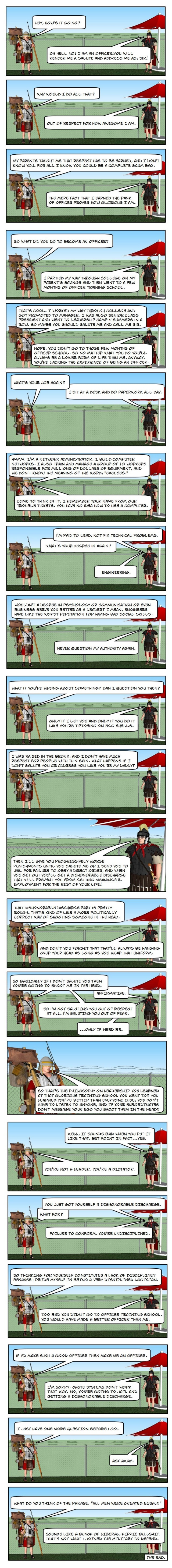 (Comic) How The Officer Corps Works