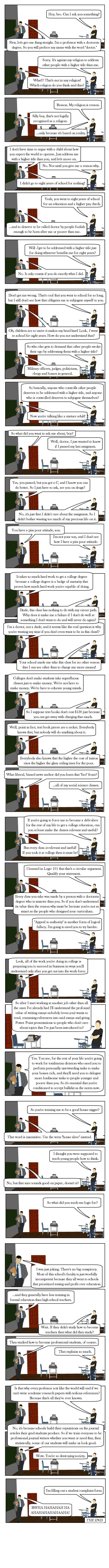 (Comic) How Universities Work