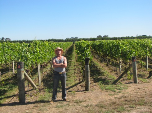 Photo of me in a Vineyard somewhere near Hastings, New Zealand