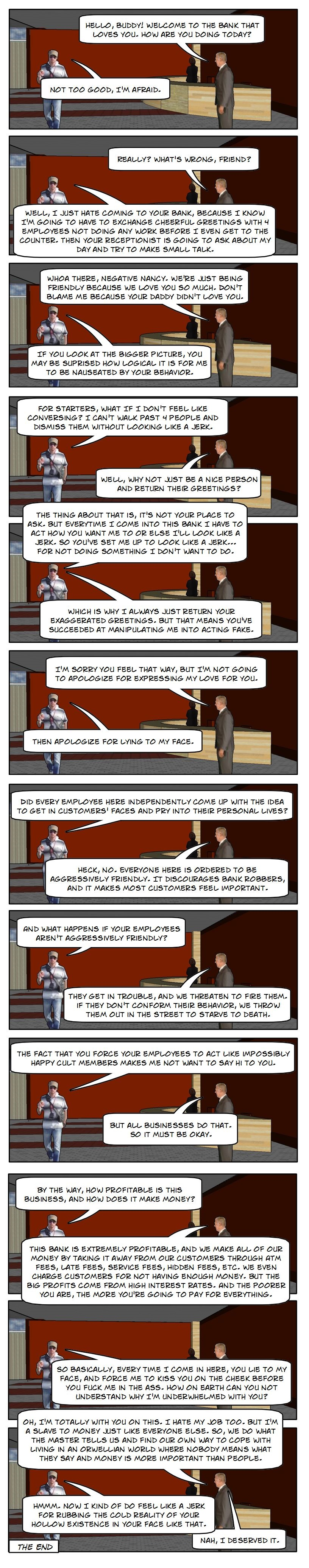 (Comic) How Bank Greeters Work