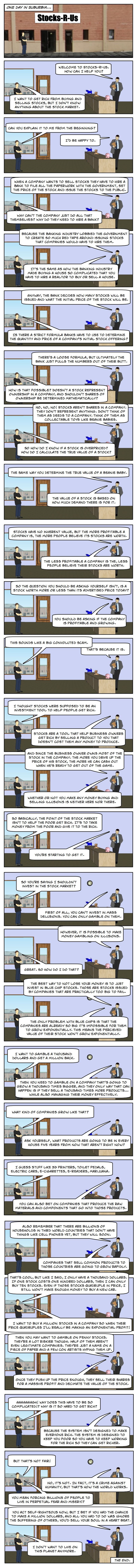 (Comic) How The Stock Market Works