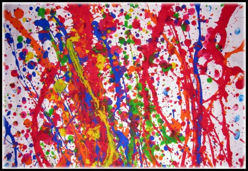 Ugly splatter paint art by the modern artist, Rothko.